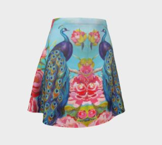 Peacock Floral Fantasy Flare Skirt preview