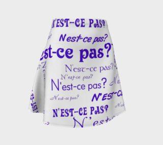 Purple N'est-ce Pas Flare Skirt preview