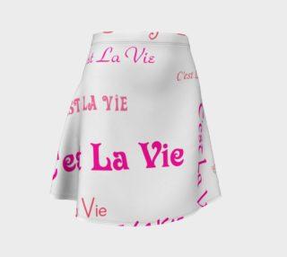 Fuchsia C'est la Vie Flare Skirt preview