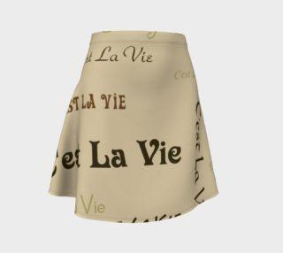 Coffee C'est la Vie Flare Skirt preview