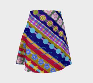 Stripe Navy Flared Skirt preview