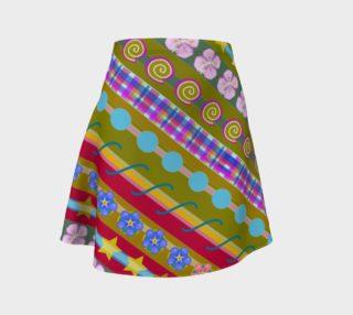 Stripe Moss Flare Skirt preview