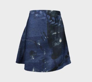 Blue and black flare skirt preview