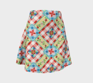 Aperçu de Cottage Chic Gingham Flare Skirt