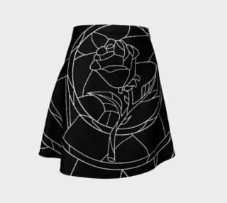 Stained Glass Rose Black preview