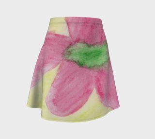 Pink Flower Blossom Flare Skirt preview