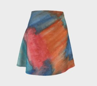 Stained Glass Brush Strokes Flare Skirt preview