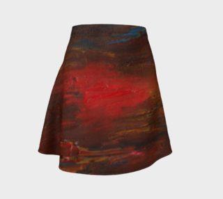 Crimson Ocean Flare Skirt preview