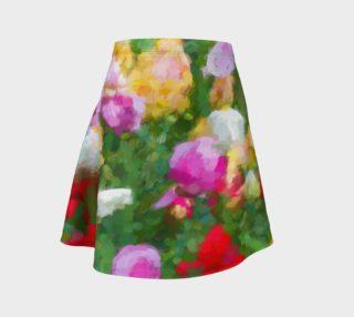 Aperçu de Painted Tulips Flare Skirt
