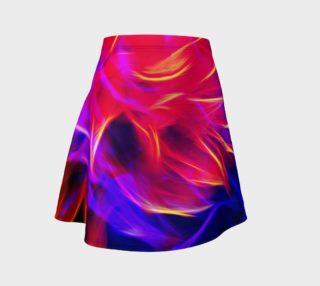 Aperçu de Electrified Dahlia Flare Skirt
