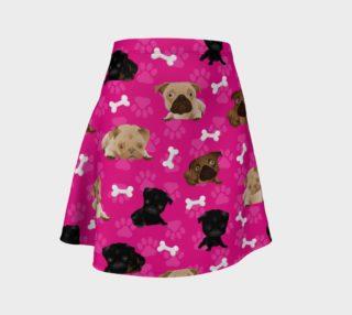 Aperçu de Bright Pink Pug Dog