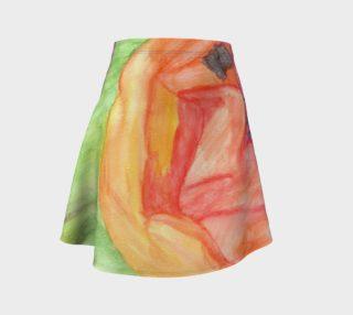 Giant Orange Poppy Flare Skirt preview