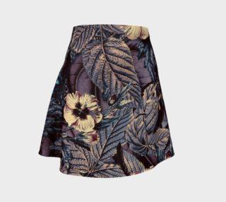 Aperçu de flare skirt flowers dark