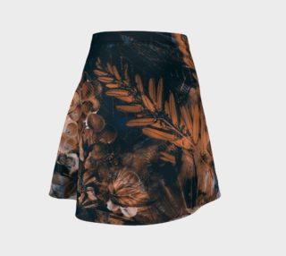 flare skirt flowers brown preview