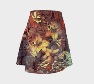flare skirt flowers art preview