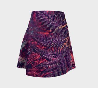 Aperçu de flare skirt flowers purple