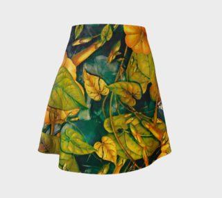 Aperçu de flare skirt flowers orange