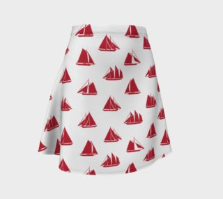 Aperçu de Sailboats - Red Boats on White Background