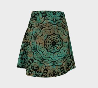 Vintage Floral Copper Patina Flare Skirt preview