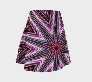 Candy Cane Kaleidoscope Flare Skirt aperçu