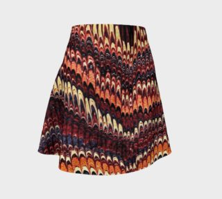 Vintage Marbled Paper Flare Skirt preview