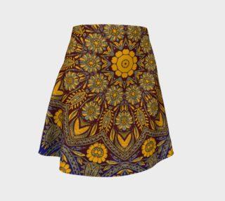 Vintage Morrocan Tile 327 Flare Skirt aperçu