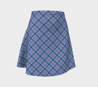 Bonnie Lass Blue Plaid Flare Skirt preview