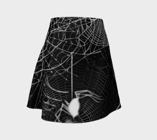 Black and White Spider Web Flare Skirt preview