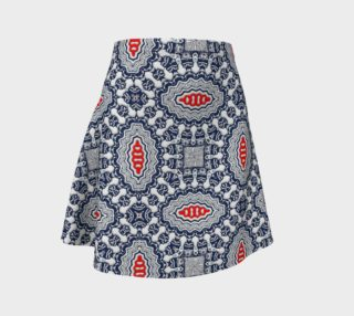 Pool Parlor Pattern Flared Skirt preview