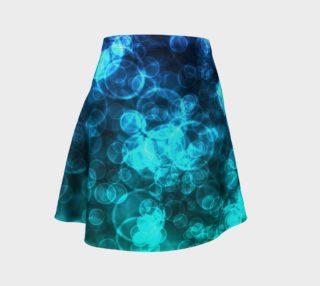 Blue Ocean Bokeh Flare Skirt preview