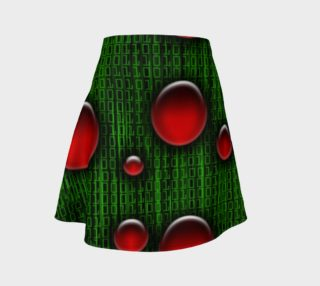 Binary Geek Digital Christmas Flare Skirt aperçu