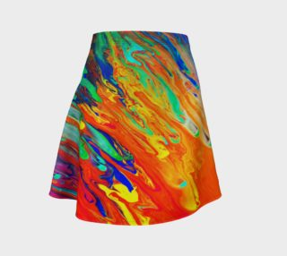 Aperçu de Abstract Flow Flare Skirt by GearX