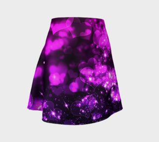 Pink Purple Bokeh Hearts Flare Skirt preview