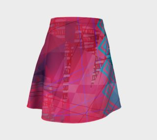 Pink Doodles Flared Skirt preview