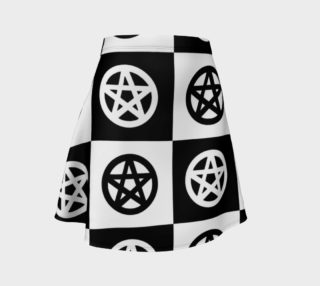 Black and White Checkerboard Pagan Pentacles preview