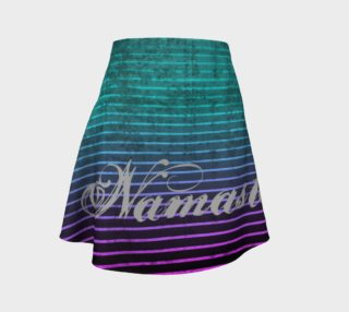 Umsted Design Namaste Distressed Striped Flare Skirt preview