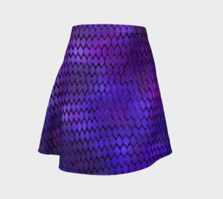 Purple Dragon Scales Flare Skirt preview