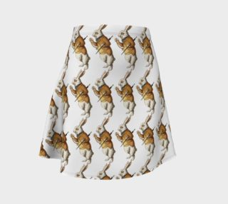 Aperçu de White Rabbit in Color from Alice in Wonderland Pattern Flare Skirt