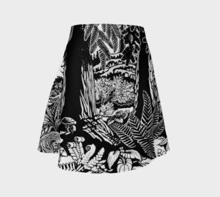Landscape Art Skirt B&W Nature Art Print Skirts preview