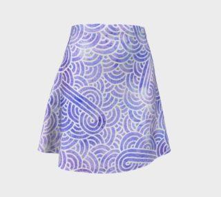 Lavender and white swirls doodles Flare Skirt aperçu