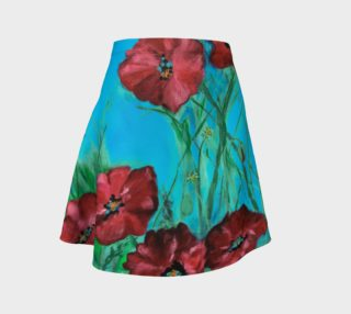 Big Red Garden Poppies Skirt preview