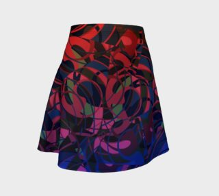 Hot Summer Nights Abstract - Deep Red and Blue  preview