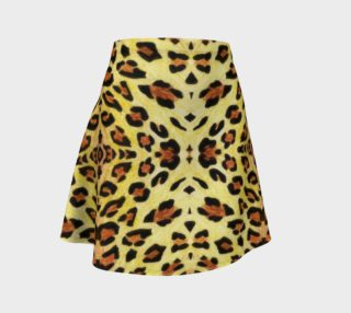 Leopard fur Flare Skirt preview