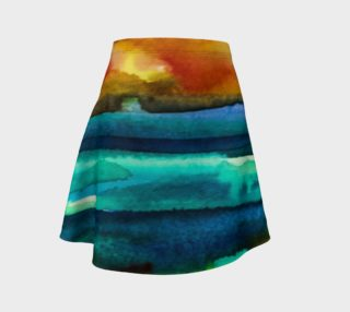 Watercolor Sunrise Skirt preview