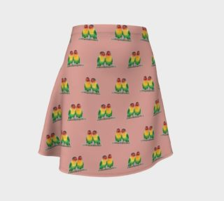 Fischer's lovebirds pattern Flare Skirt aperçu