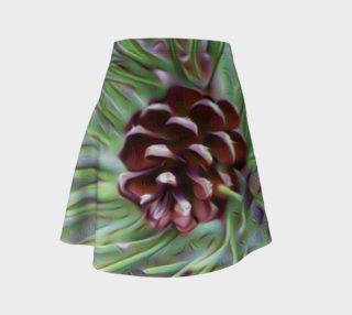 Silky Pinecone Flare Skirt preview