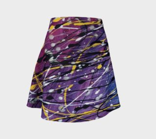 Galaxie Éclairante Flare Skirt preview