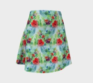 Red Poppy Floral Skirt preview