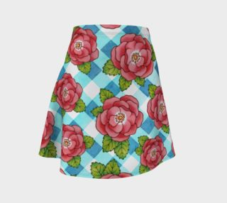 Alpen Rose on Blue Gingham preview