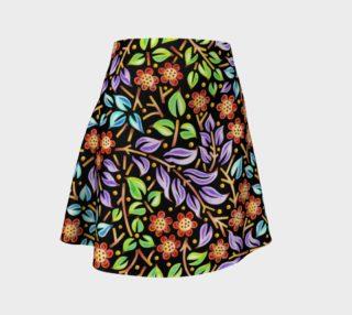 Aperçu de Filigree Floral Flare Skirt
